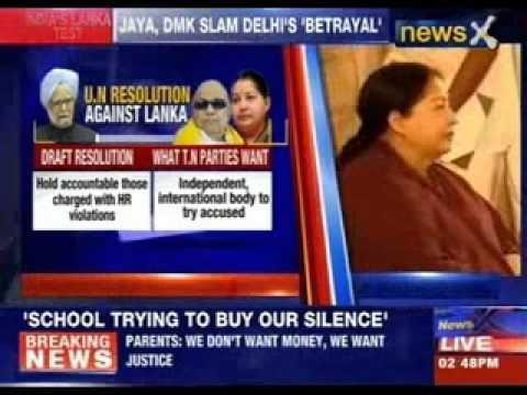 Jaya, DMK slam Delhi's 'Betrayal'