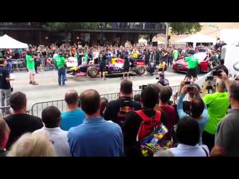 F1 US national anthem V8 Sound [USA Austin 2014]