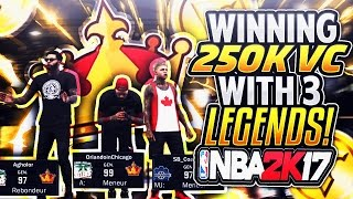 NBA 2K17 HIGH ROLLERS WITH 3 LEGENDS - EXPOSING EVERYONE