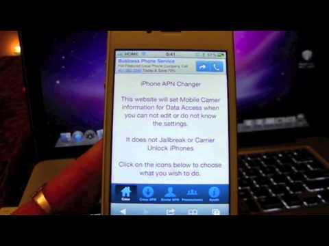 Como Configurar el operador de servicio Iphone 4. 4S. 5. 3G. 3GS... APN configuración