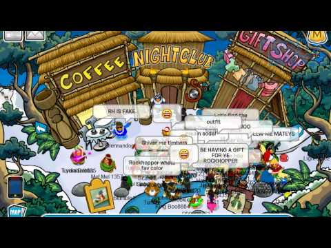 Frosty Badge Videos: Meeting Rockhopper (Island Adventure Party 2011)