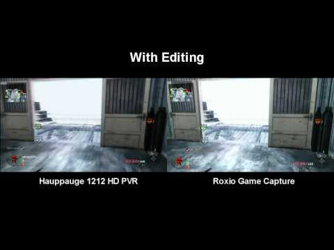 Hauppauge HD PVR vs Roxio Game Capture Comparison