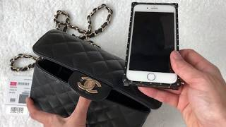 Unboxing: Chanel Rectangular Mini 17C Black Caviar with Light GHW