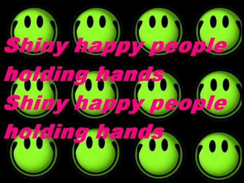 REM & The B52's Shiny Happy People Lyrics.wma