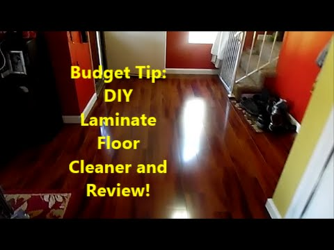 Budget Tip: DIY Laminate Floor Cleaner and Review!!