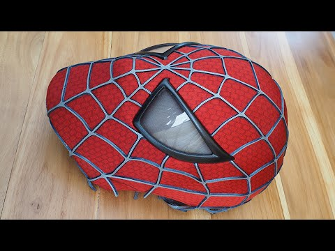 Spider-Man Costume Replica Mask with Magnetic Eye Frames (unfinished)