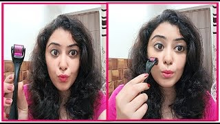 ये हुआ जब मैने पहली बार Derma Roller use किया Derma Roller-How to use & Benefits/NYKAA Festive Sale