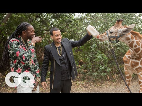 2 Chainz & French Montana Feed a $40K Giraffe | Most Expensivest Sh*t | GQ