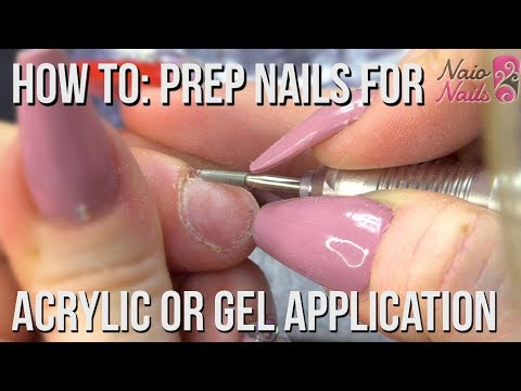 How to Prep Nails for Acrylic or Gel Application - Salon Style