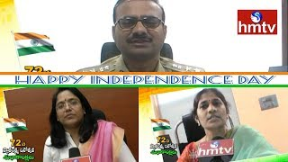 DCP Sumathi and DCP Ramesh Reddy - Collector Devasena 72nd Independence Day Wishes | hmtv
