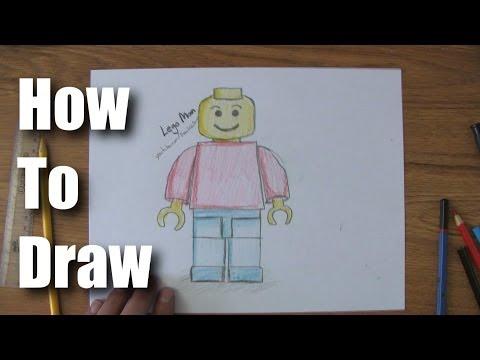Видео как нарисовать лего-человечка