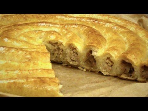"""Пирог """"Спиральный"""" из творожного теста. Простой домашний рецепт."""