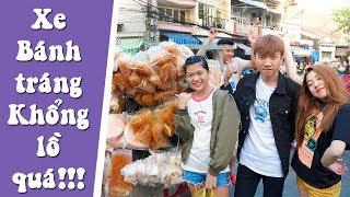 Khám phá xe BÁNH TRÁNG KHỔNG LỒ ở Chợ Lớn cùng Yến Nhi | NYN KID