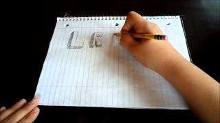 How To Draw 3d Letters+speedart
