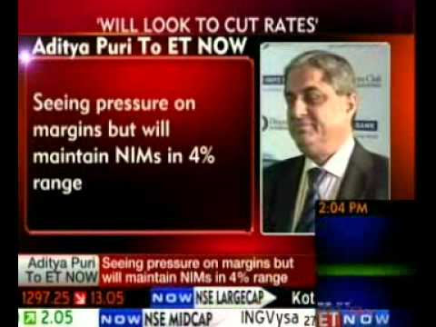 Aditya Puri, MD, HDFC Bank Discusses Cuts in Interest Rates I ET NOW