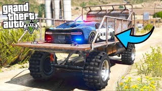 Stealing a TOP SECRET Police Supercar!! (GTA 5 Mods - Evade Gameplay)