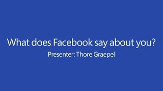 What Does Facebook Say About you