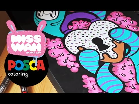 Posca x Miss Wah - Kawaii Graffiti Canvas (Vol 1)