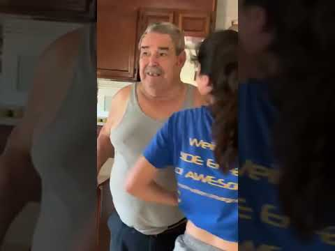 Girl Chugs a Bottle of Alcohol To Gives Grandad The Shock Of His Life - 1065234