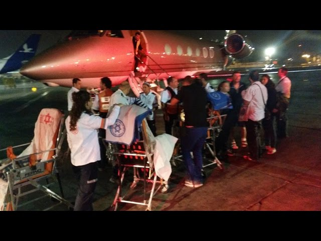 Plane Carrying 7 Injured Israelis Arrives from Nepal