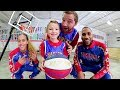 FATHER SON EPIC BASKETBALL TRICK SHOTS / Globetrotter Bloopers!