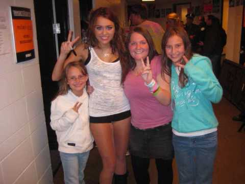 MILEY TOOK HER TIME AFTER THE CONCERT TO MEET ME..II HAVE 3 DIEASE AND THIS WAS A DREAM COME TRUE