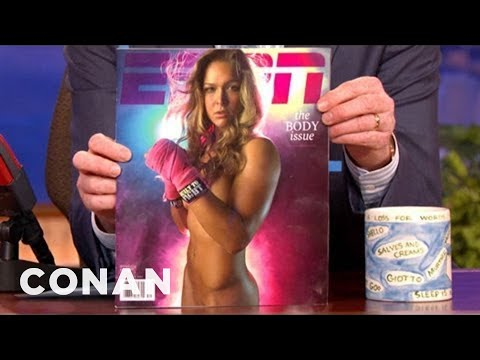 Mma Champ Ronda Rousey On Her Nude Photoshoot - Conan On Tbs video