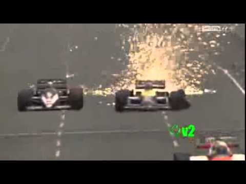 Nigel Mansell Tire Explosion At Adelaide 1986