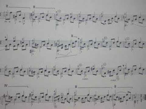 Fernando Sor 's study Opus 35 No.22, Segovia No.5, by lute323