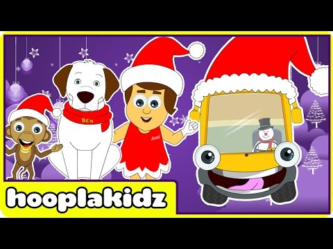 Wheels On The Bus | Christmas Special | Jingle Bells | Nursery Rhymes For Toddlers And Babies video