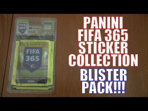 UK PREMIERE! ⚽️ BLISTER PACK OPENING ⚽️ Panini FIFA 365 Official 2016 Sticker Collection