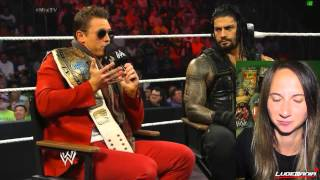 WWE Smackdown 8/15/14 MizTV Roman Reigns Knocks out Miz in the Money Maker