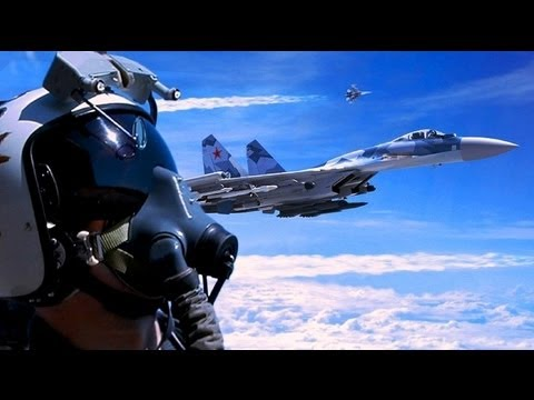 SU35 vs F22 RAPTOR vs EUROFIGHTER 2013