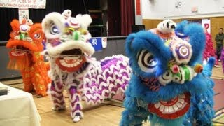 Lion Dance Calgary 2013 at Woodman Junior High School