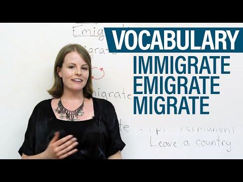 Vocabulary - Immigrate, Emigrate, Migrate