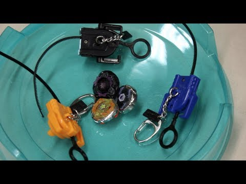 Hasbro Beyblade Battle Keychains - Gravity Perseus, Grand Cetus, & Rock Zurafa Unboxing!! video