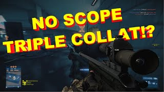 First NOSCOPE triple collat on BF3 with Crazy Reactions