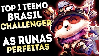 AS RUNAS TOP 1 TEEMO CHALLENGER DO BRASIL - TILTANDO OS PRO PLAYERS DE TEEMO