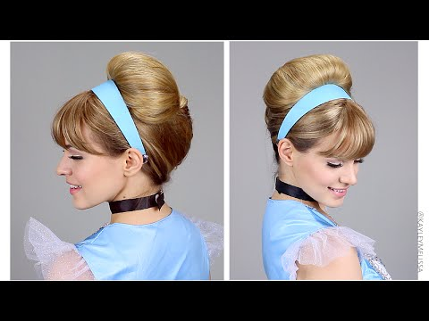 Easy Cinderella Updo for Halloween!