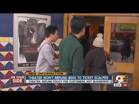 Theater won't refund $600 to ticket scalper