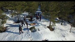 Kaybolan film ekibi drone sayesinde kurtarıldı