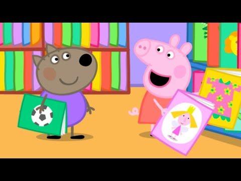 Свинка Пеппа на русском все серии подряд | Пеппа идет в библиотеку! | Мультики