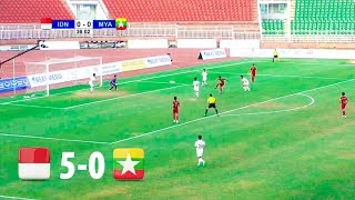 Indonesia 5 - 0 Myanmar | AFF U18 CHAMPIONSHIP 2019 FULL HD | 3/4 PLACE | 19/08/2019