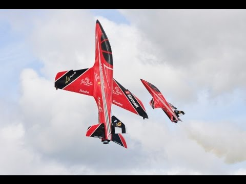 TWO RC KRILL AVANTI S - VECTORED THRUST JETS DISPLAY - BISHOPS LONG MARSTON MODEL AIRCRAFT SHOW 2015