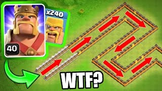 """""""THE BARBARIAN TRAIN!"""" - Clash Of Clans - INSANE MASS TROOP GAME PLAY!"""