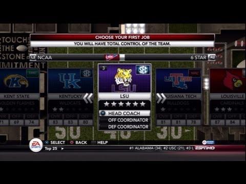 NCAA Football 13 - DYNASTY MODE! Which School Should I Build?