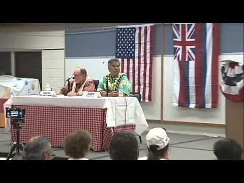 PART 10: Banyan Drive - Governor Candidate Forum in Waimea (July 23, 2014)