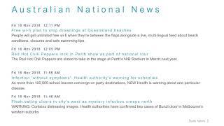 National News Headlines for 16 Nov 2018 - 1 PM Edition