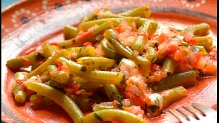 Ejotes a la mexicana- mexican style string beans