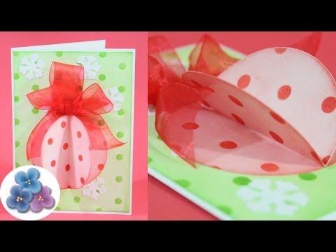 Como hacer tarjetas de navidad 2014 diy esfera re facil - Como hacer targetas de navidad ...